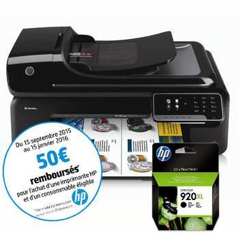 Imprimante Multifonction A3 + Fax HP Officejet 7500a + cartouche 920XL (avec ODR 50€)
