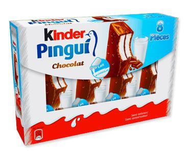 Sélection de produits Kinder en promotion - Ex : 2 paquets de 8 Kinder Pingui