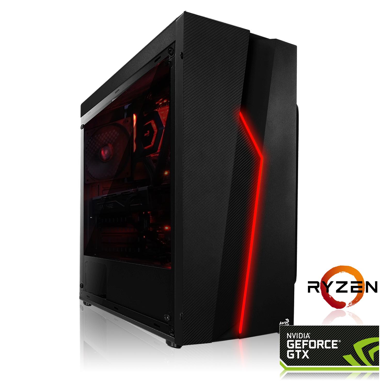 Tour PC Fixe Gaming Bolt - Ryzen 5 2600, GTX 1660 OC (6Go), RAM 16Go (3000Mhz), 240Go SSD, Alimentation 550W