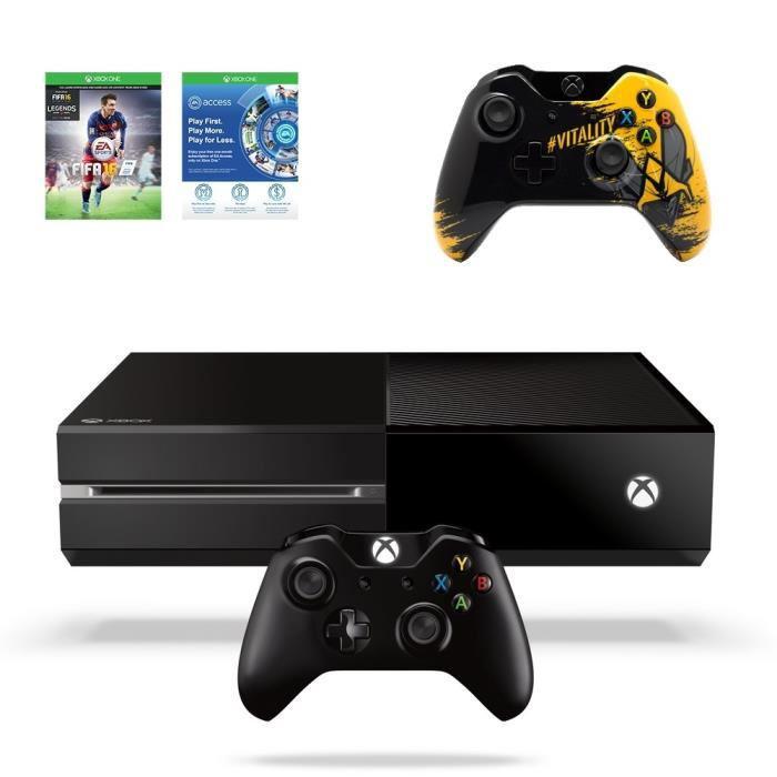 Console Xbox One 500 Go Noire + Fifa 16 + 2ème Manette (édition Vitality)
