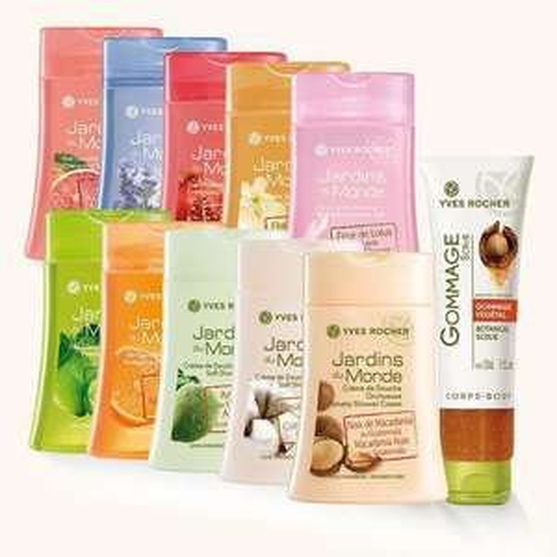Lot de 10 gels douche + Gommage + 2 shampooings + 1 cadeau parmi une sélection