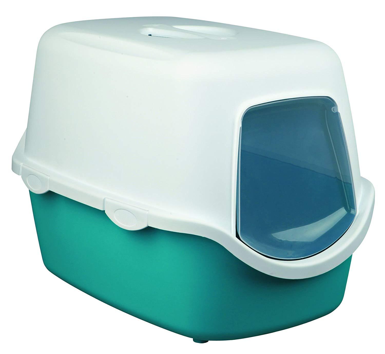 Bac à Litière pour chat Trixie Vico Easy Clean - Turquoise