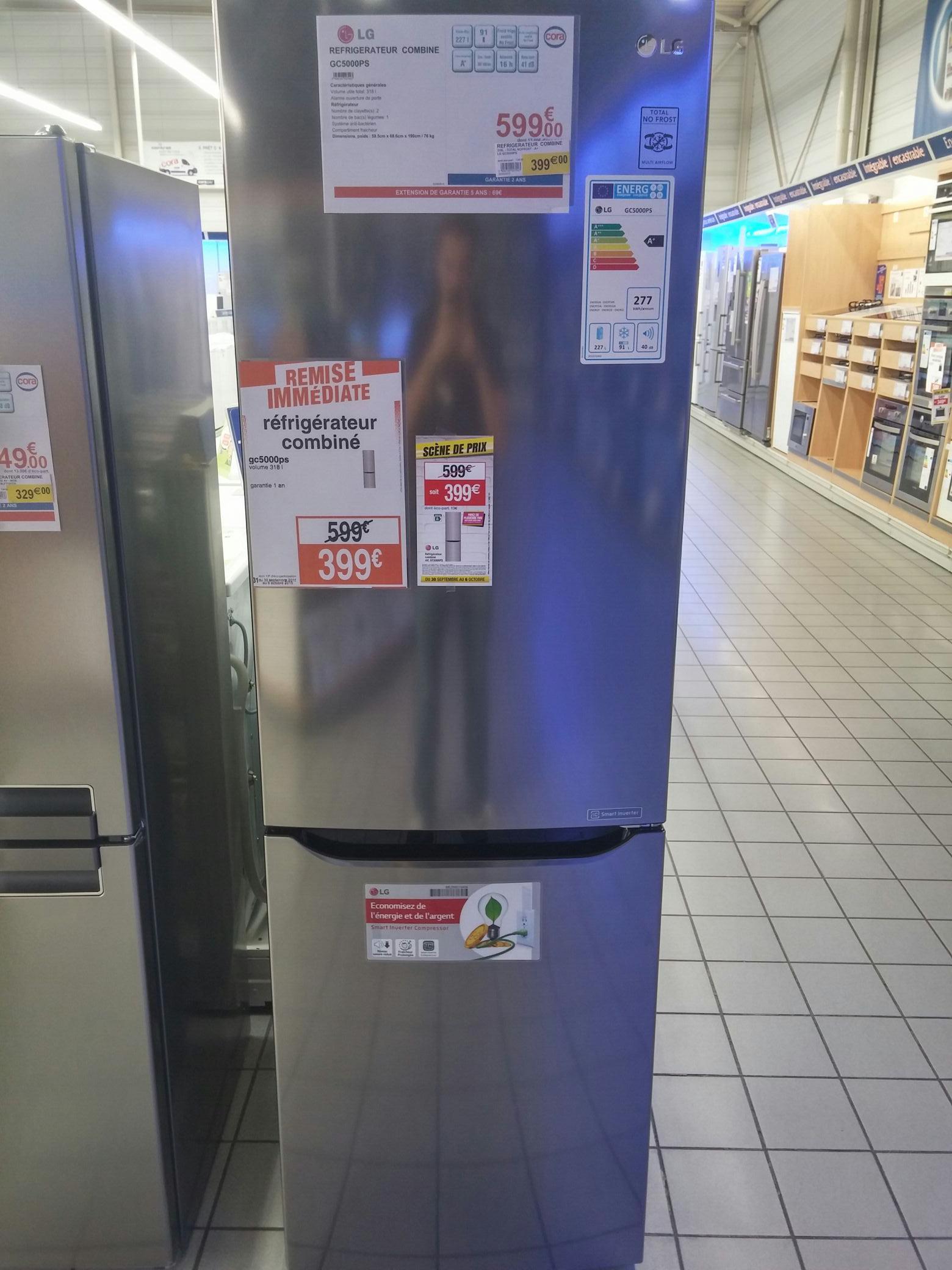 Réfrigérateur combiné LG GC5000PS 318L