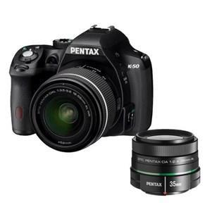 Appareil photo Reflex Pentax K-50 16 Mpix Noir + Objectif DAL 18-55 + Objectif SMC DA 2,4/35 mm (+ 200€ en 1 bon d'achat)