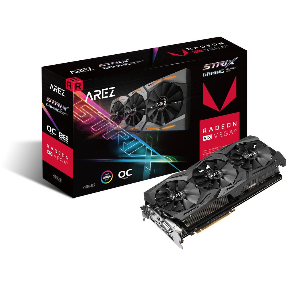 Carte graphique Asus AREZ Radeon RX Vega 56 STRIX, 8 Go HBM2 + 6 jeux offerts (279.21€ avec le code BAL)