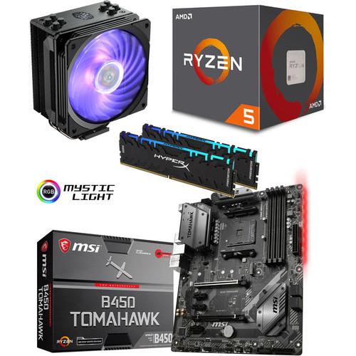 Kit d'évo Processeur AMD Ryzen 5 2600 + MSI B450 TOMAHAWK + Hyper 212 RGB + 16 Go (429,52€ avec le code VERT)