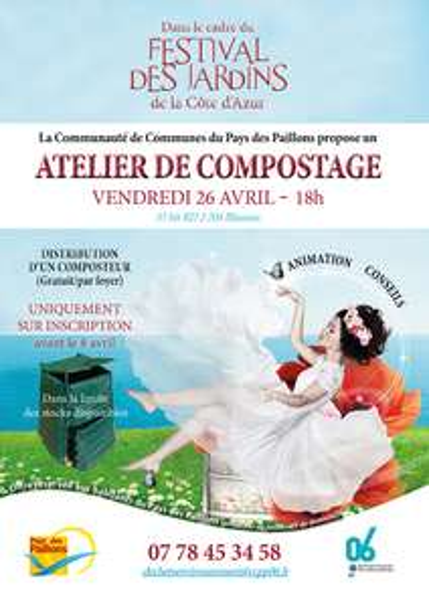 Distribution de composteurs gratuit - Communauté de communes du pays des paillons (06)