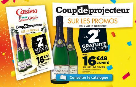 1 Bouteille de champage Heidsieck & Co Monopole achetée = 2ème bouteille gratuite