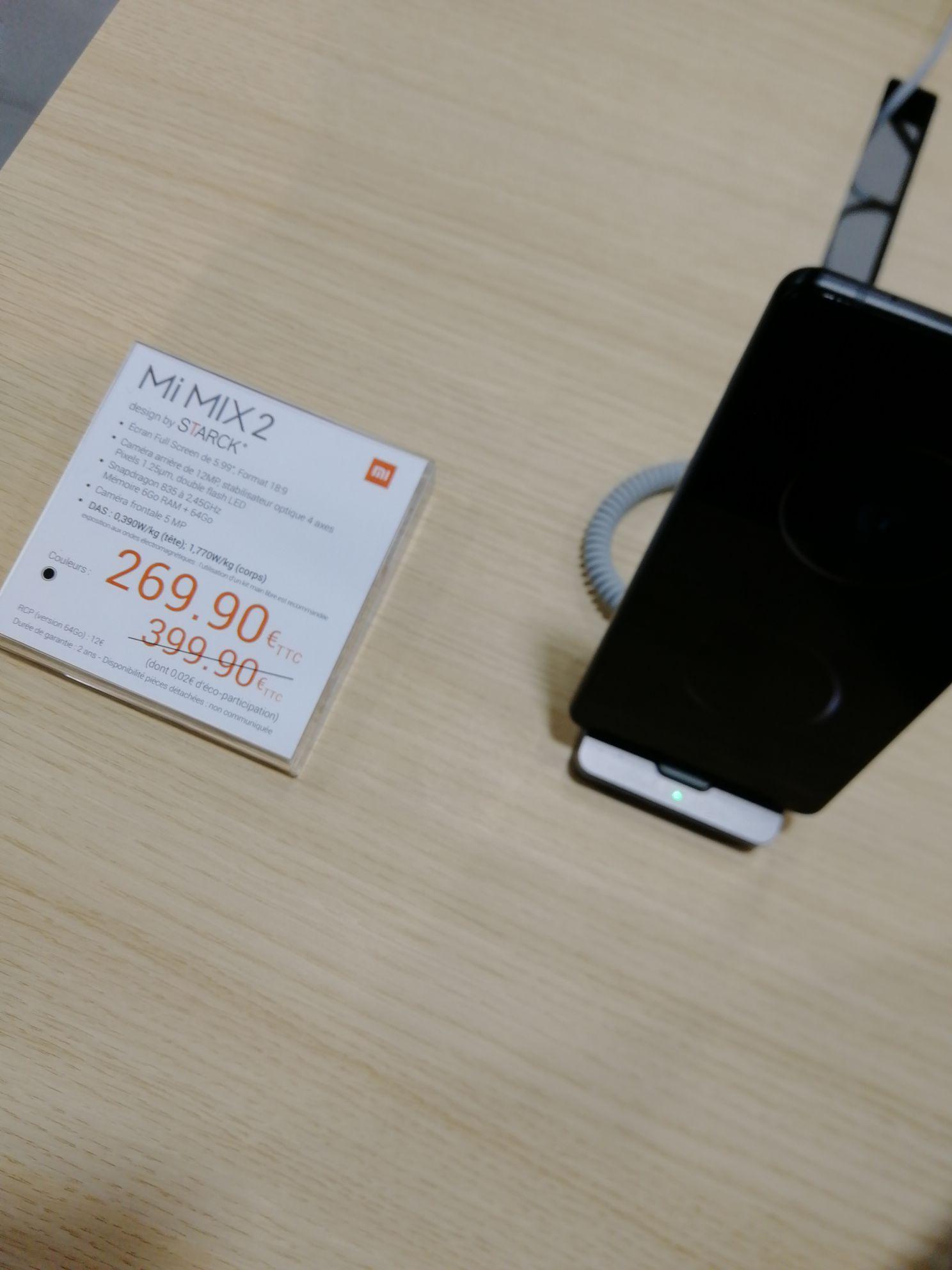 """Smartphone 5.99"""" Xiaomi Mi Mix 2 - Full HD, Snapdragon 835, RAM 6 Go, 64 Go ROM (Les Halles 75)"""