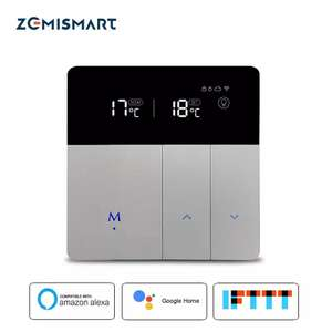 Thermostat connecté Zemismart - LCD (Compatible Google Home et Amazon Alexa)