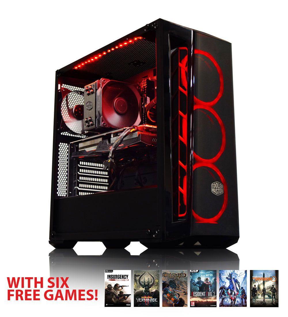 Tour PC Fixe AWD - AMD Ryzen 5 2600X, Asus STRIX RX 580 OC 8Go, RAM 8Go (3000Mhz), 240Go SSD, Boitier Cooler Master MB520