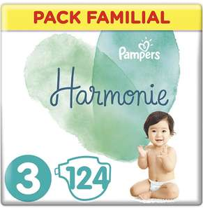 Couches Pampers Harmonie - Taille 2/3/4/5 - Pack Familial (124 couches)