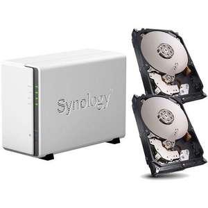 Serveur de stockage NAS Synology DS215J + 2 disques durs Western Red 2 To