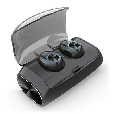 Écouteurs intra-auriculaires sans-fil Alfawise V6 TWS - Bluetooth, noir
