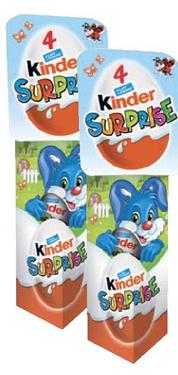 Lot de 2 Packs Kinder Surprise - 2 x 4 Oeufs (via BDR)