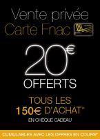 [Adhérents] 20 € offerts en chèque cadeau par tranche de 150€ dépensés