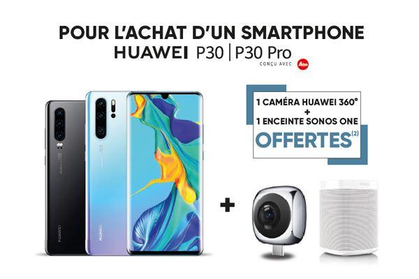 Une caméra Huawei 360° + une enceinte Sonos One offertes pour l'achat d'un smartphone Huawei P30 ou P30 Pro - Paris Champs-Elysées 8ème (75)