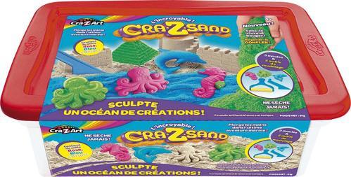 Sable magique Cra-Z-sand - Créatures marines, 900g + 3 moules + accessoires