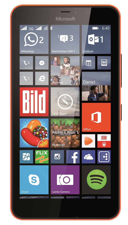 """Smartphone 5.7"""" Microsoft Lumia 640 XL 8 Go - couleur orange - débloqué"""