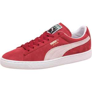 Chaussures Puma Suede Classic Trainers - Rouge/Blanc