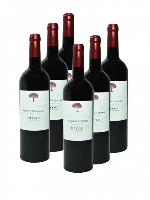 Lot de 18 bouteilles de vin rouge Fitou Réserve des Tamaris (2017)
