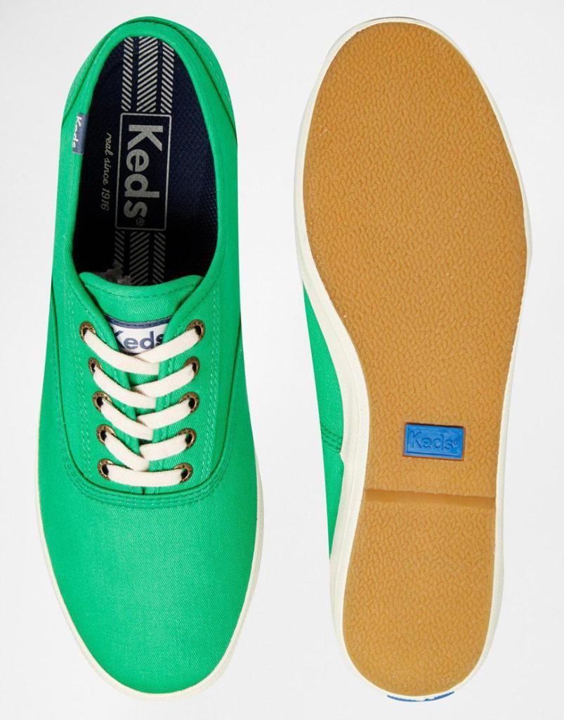 Chaussures Tennis Keds Champion en toile - Vert