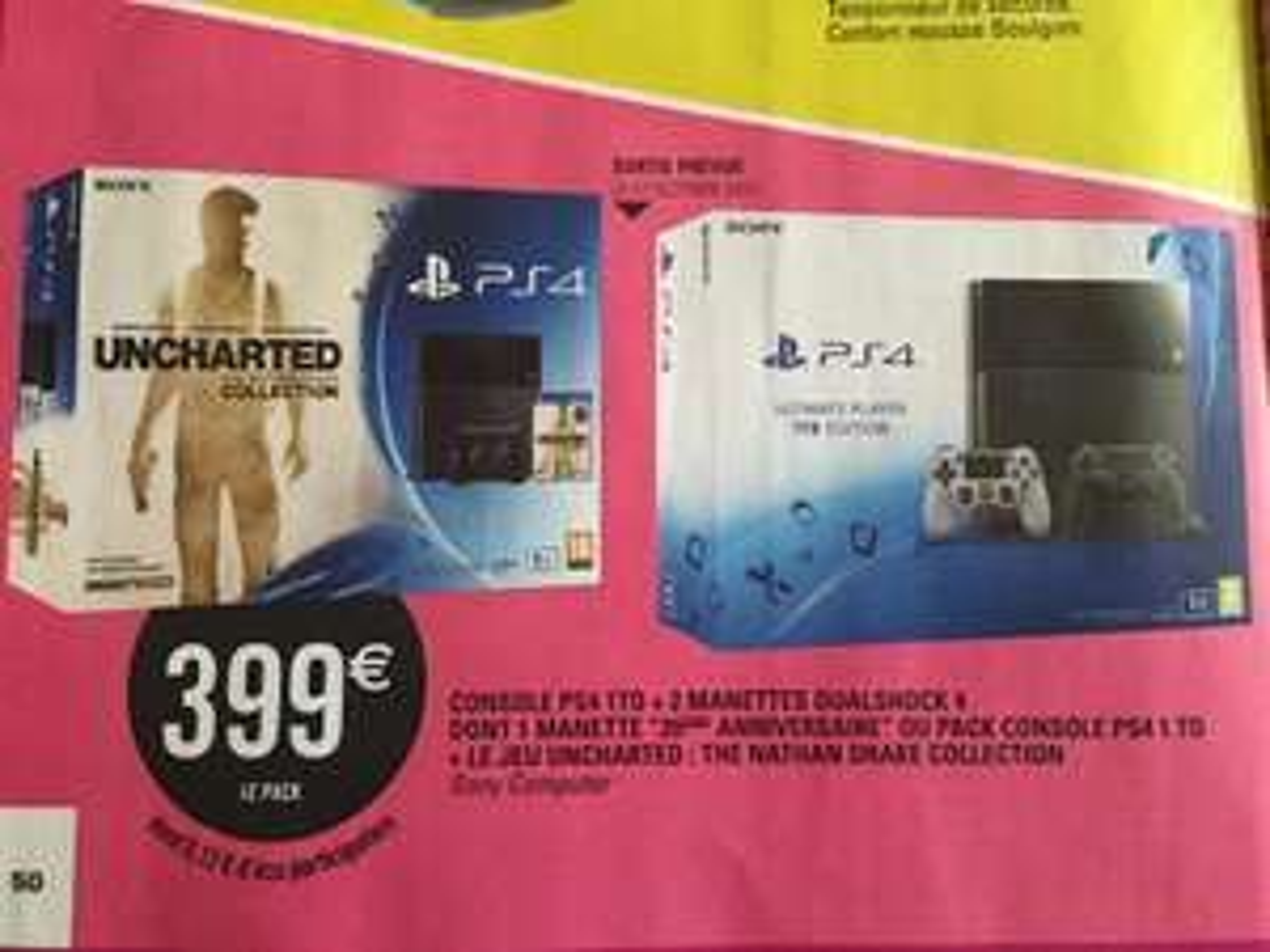"""Console Sony PS4 1 To + 2 ème manette """"20ème anniversaire"""""""