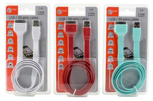 Câble de données USB Sologic pour iPhone 3/4 (1 mètre)