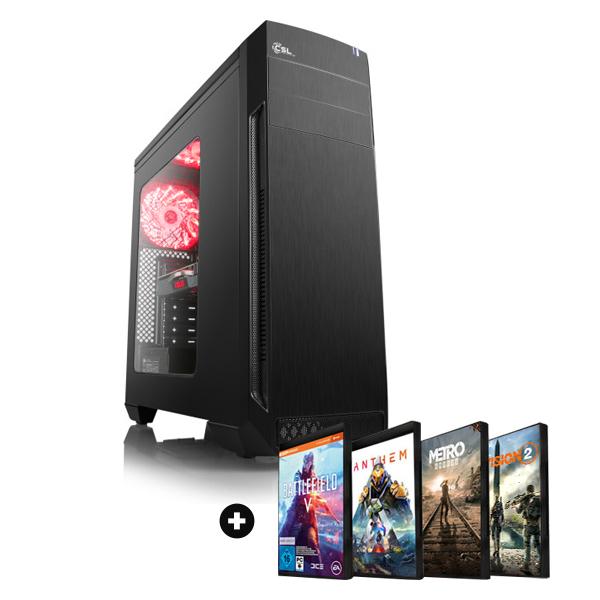 Tour PC Fixe Boost Gaming - Ryzen 7 2700X (8x3.7 Ghz), RTX-2070 Dual OC (8 Go), 16 Go de RAM (3000 Mhz), 240 Go en SSD + 2 jeux PC offerts