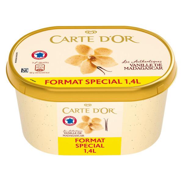 Bac de crème glacé Carte D'Or - 1,4L (via BDR)