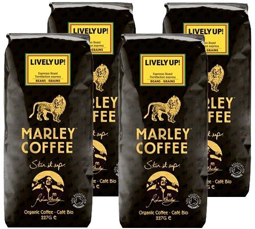Café en grains bio Marley Coffee - 4 x 227 g - Lively Up