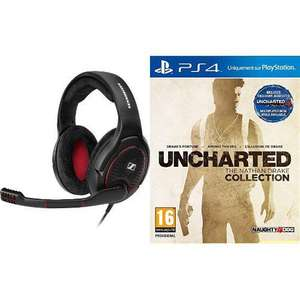 Micro Casque Gaming Sennheiser G4ME One Noir + Uncharted The Nathan Drake Collection sur PS4