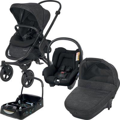 Poussette 3 en 1 trio Bébé Confort avec siège auto cosi et nacelle + base