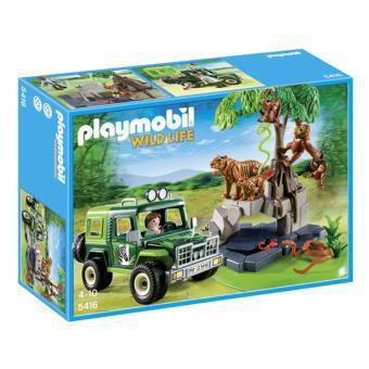Playmobil Wild Life - Véhicule d'exploration avec animaux de la jungle - n°5416