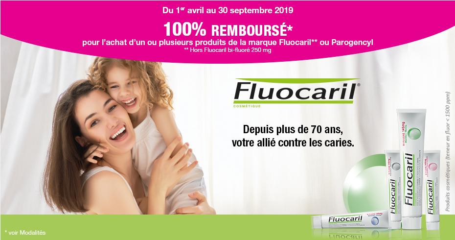 De 1 à 5 produits Fluocaril ou Parogencyl gratuits - 100% remboursé(s) via ODR en parapharmacie / pharmacie