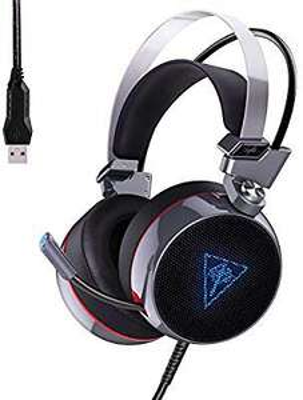 Casque audio avec micro 7.1 Aukey - USB, rétro-éclairage RGB, argent / noir (vendeur tiers)