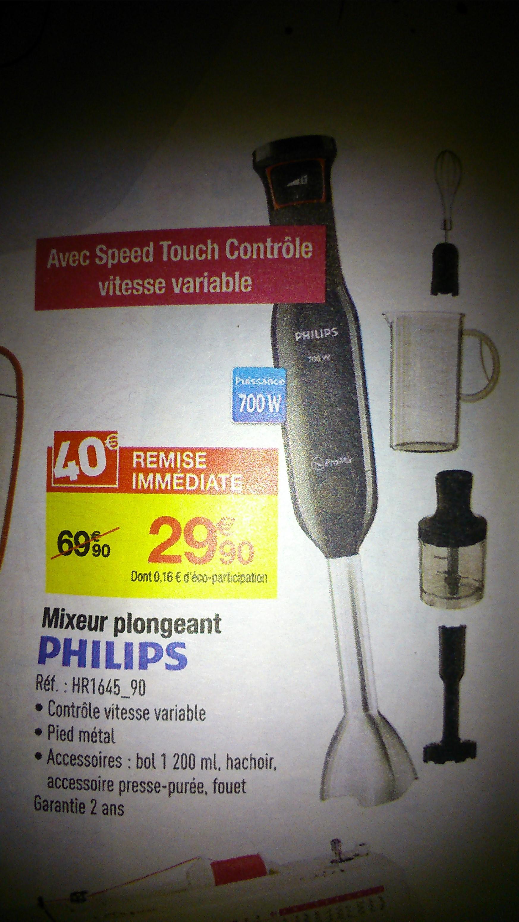 Mixeur plongeant Philips HR1645/90 + Accessoires
