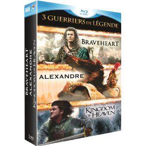 Coffret 3 Blu-Ray Braveheart , Kingdom of Heaven et Alexandre