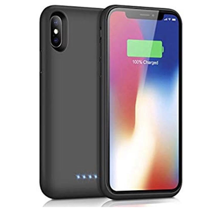 Coque batterie pour Apple iPhone X/Xs/8/7/6s/6 Trswyop (vendeur tiers)