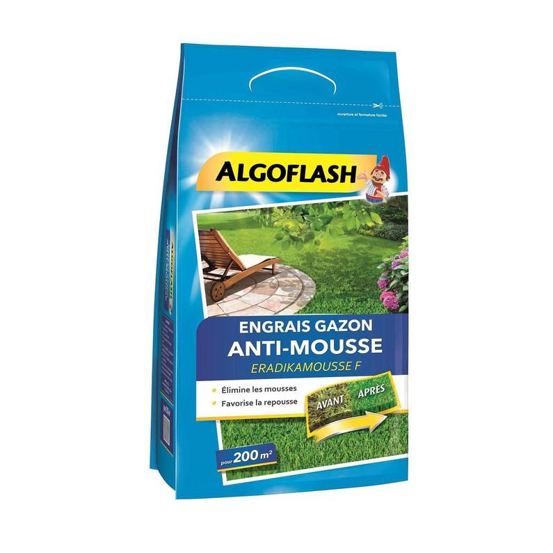 Engrais gazon anti mousse Algoflash - 6Kg (200 m2)