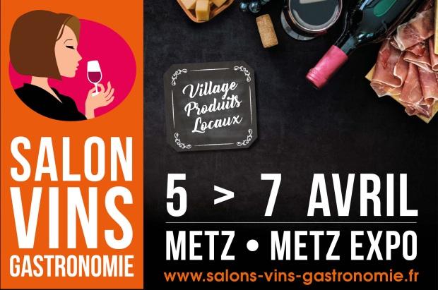 2 Invitations gratuites pour le salon des vin et de la gastronomie les 5, 6 et 7 avril 2019 à Metz (57)