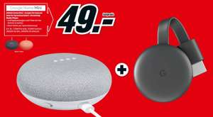 Pack assistant vocal Google Home Mini + Google Chromecast 3 (Frontaliers Allemagne)