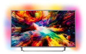"TV 65"" Philips 65PUS7303 - LED, 4K UHD, Dalle VA, Smart TV, Ambilight 3 côtés"