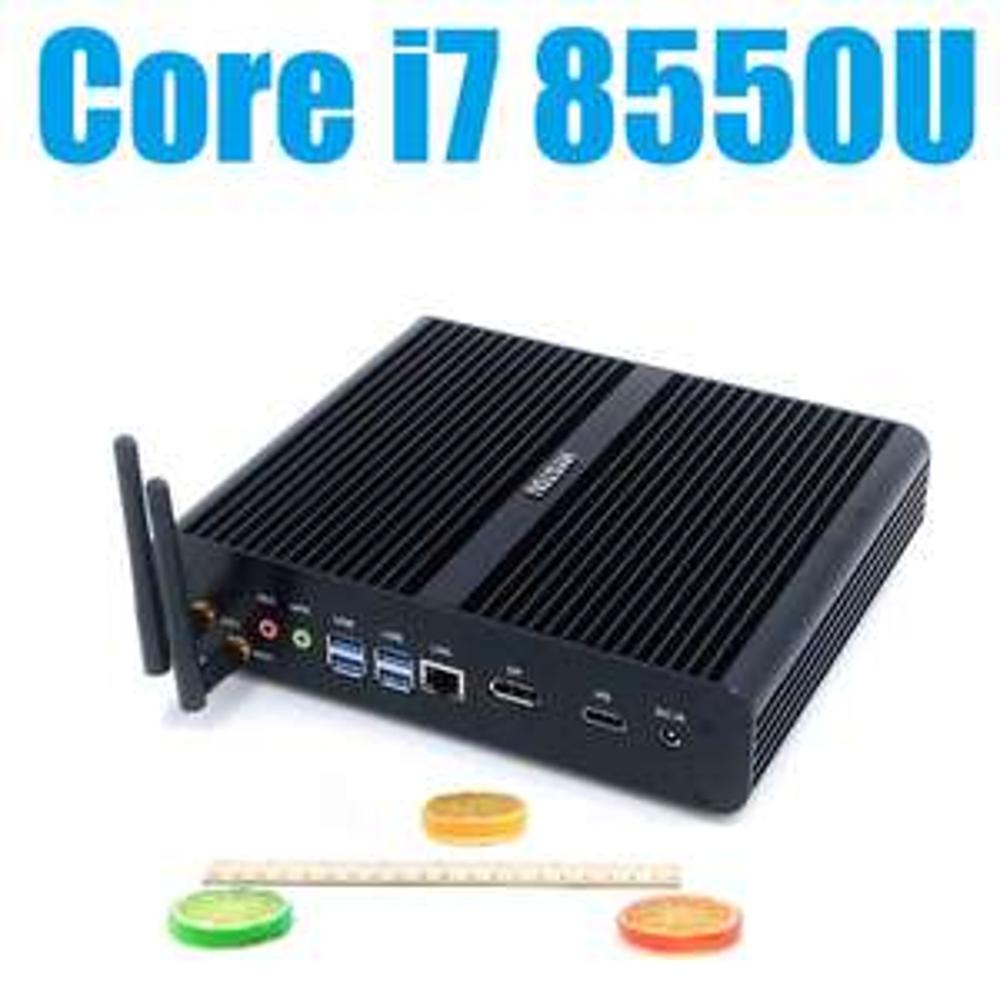 Mini PC Hystou - Intel Core i7 8550U, sans mémoire ni stockage (Frais de douane inclus)
