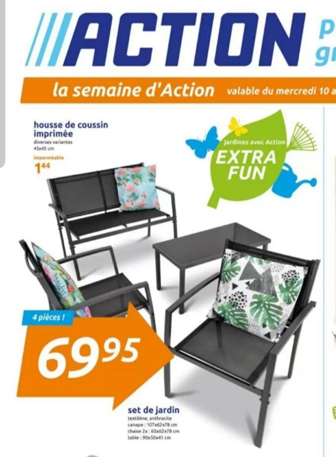 Ensemble Salon de jardin (1 table, 2 chaises, 1 sofa)