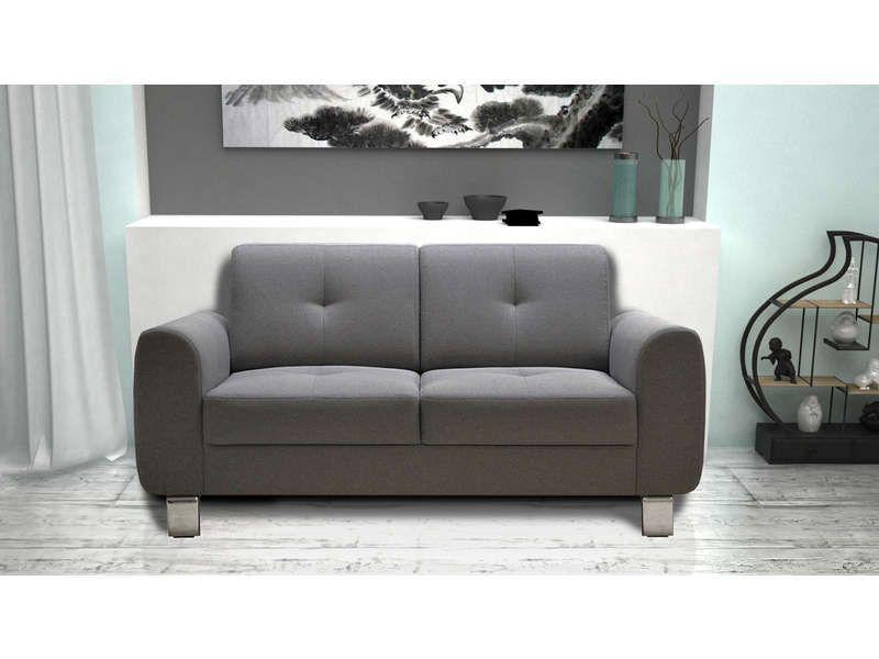 Canapé droit fixe Axel - 2 places (Plusieurs coloris)