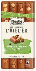Tablette chocolat Nestlé L'atelier plusieurs parfums (via Prixing et remise fidélité)