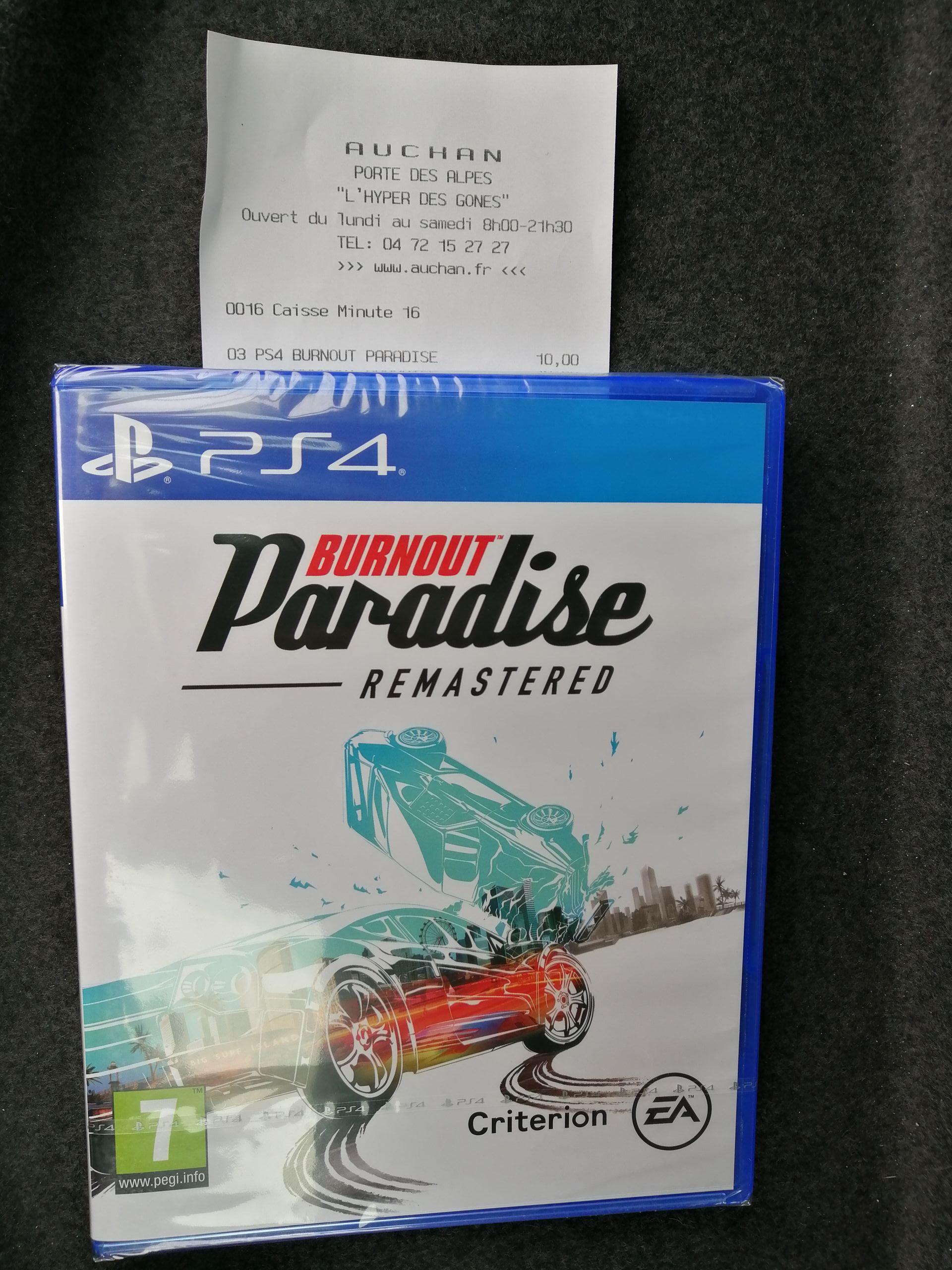 Jeu Burnout Paradise sur PS4 - Auchan St Priest (69)