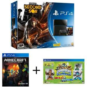 Pack PS4 500Go + Skylanders Swap Force + inFamous : Second Son + Minecraft