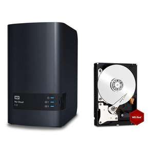 NAS Western Digital EX2 + 1 Disque Dur WD Red -  2 To